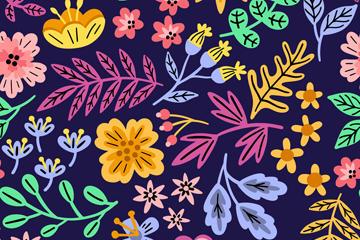 卡通植物花卉背景图