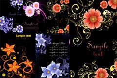 时尚花卉背景图