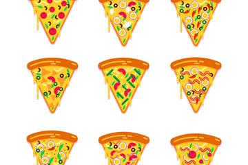美味三角披萨矢量素材