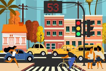 城市交通矢量图