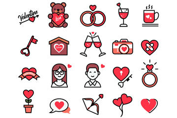 情人节图标矢量图