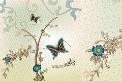 蝴蝶花卉背景图