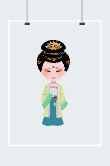 唐代女子矢量图