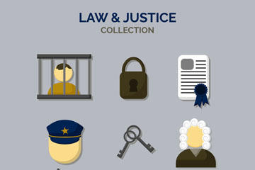 法律元素图标设计