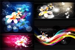 时尚潮流花卉背景图