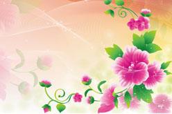 多彩植物花卉背景图