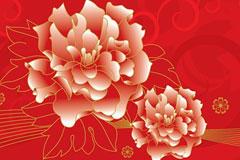 中国古典花卉背景图