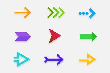 彩色箭头矢量图