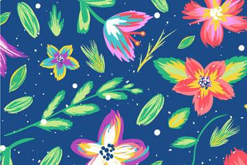 文艺风植物花卉背景图