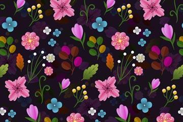 ins风花卉背景图