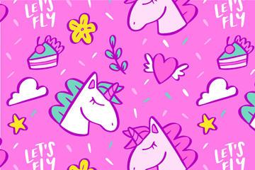 粉色独角兽背景图片