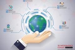 商务PPT地球背景图片