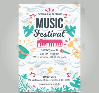 国外音乐节海报背景图