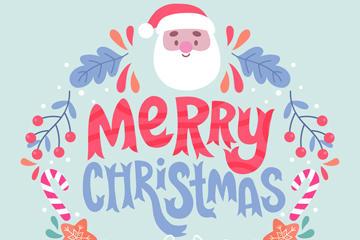 圣诞老人艺术字图片