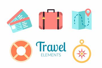 旅游图标logo