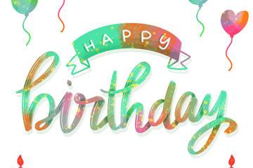 生日快乐英文设计图
