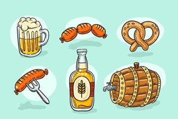 啤酒节元素图片