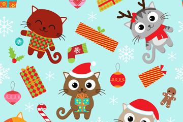 圣诞节吉祥物背景图片