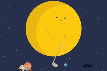 太阳创意插画图片