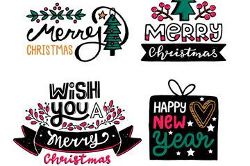 圣诞节艺术字体设计