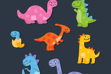 恐龙矢量图