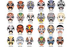 京剧脸谱矢量图