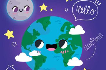 地球创意插画图片