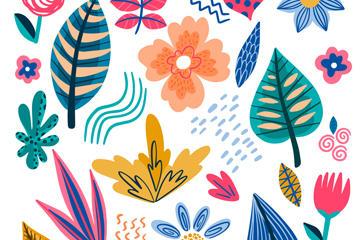 抽象派植物背景图片