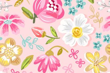 彩绘花朵图案背景图