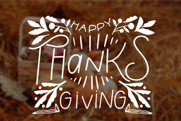 感恩节英文艺术字图片