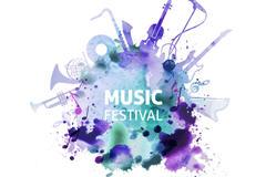 艺术风音乐节海报设计