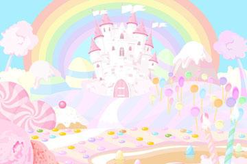 卡通童话糖果城堡图片