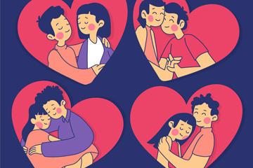 情侣人物矢量图