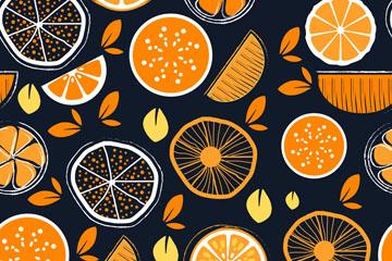 橙子无缝背景图片