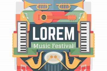 民族音乐节海报背景