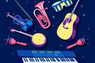 音乐节乐器免抠素材