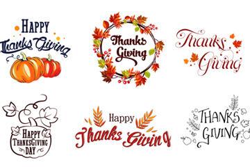 感恩节创意字体