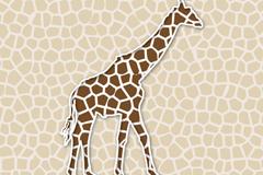 长颈鹿剪纸图片