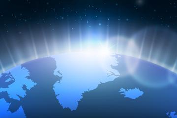 发光地球背景图片