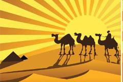 异域沙漠风光背景图片