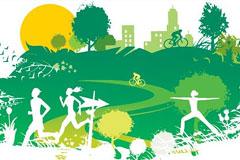 环保绿色都市矢量素材