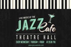 咖啡厅爵士乐海报背景