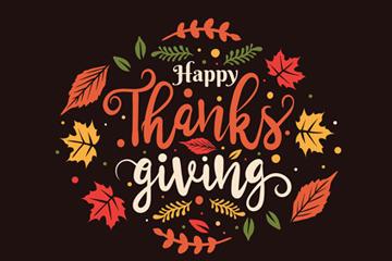 感恩节艺术字体图片