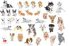 30种宠物狗矢量图