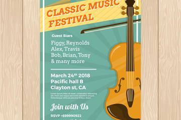 古典音乐节海报背景图