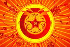国庆节海报红色背景图片