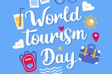 世界旅游日插画图片