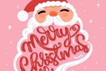 圣诞老人插画矢量素材