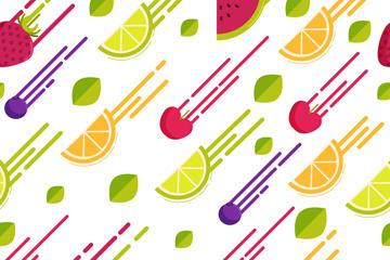 动感水果设计无缝背景图