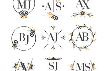 婚礼艺术字设计图
